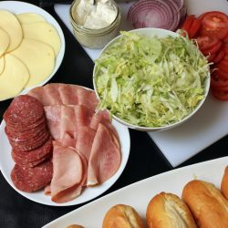 ingredients for sandwich bar