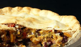 cut open black bean pot pie