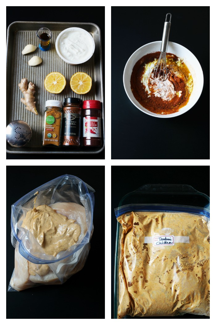 step by step photos of making tandoori chicken marinade