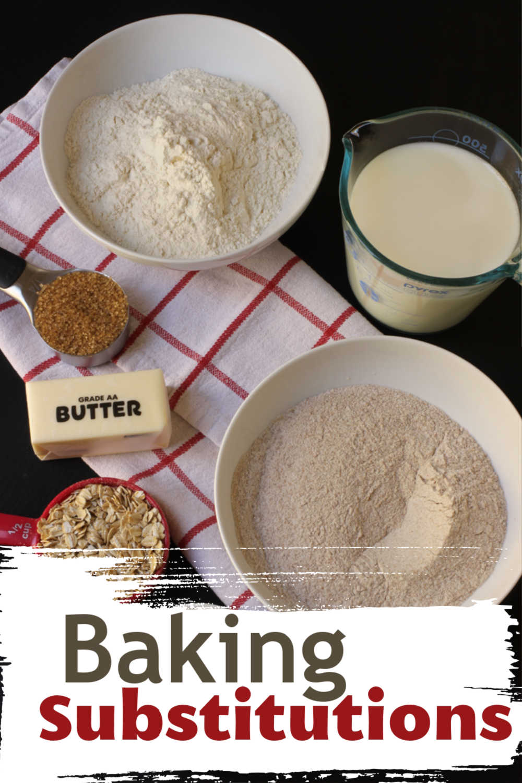 baking ingredients on table