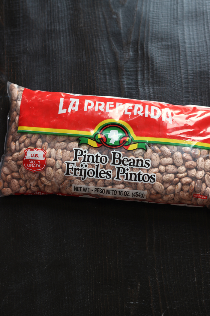 bag of pinto beans