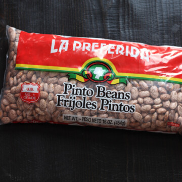 Beans in bag