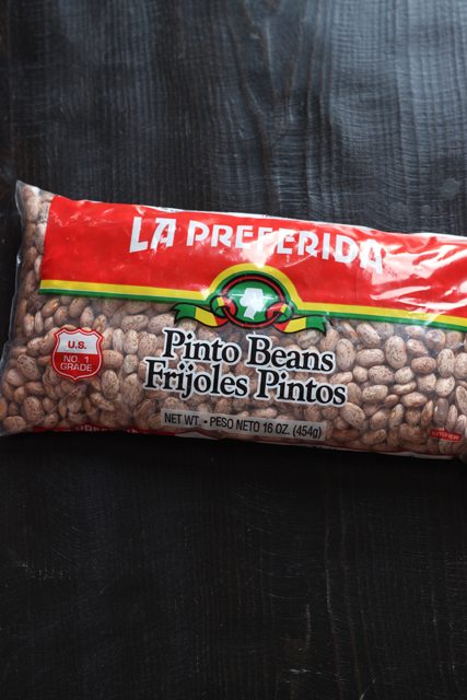 bag of dry pinto beans