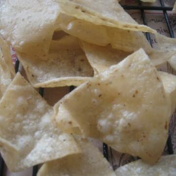 tortilla chips on rack