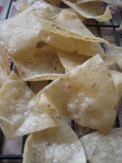 how to make healthy chips out of corn tortillas