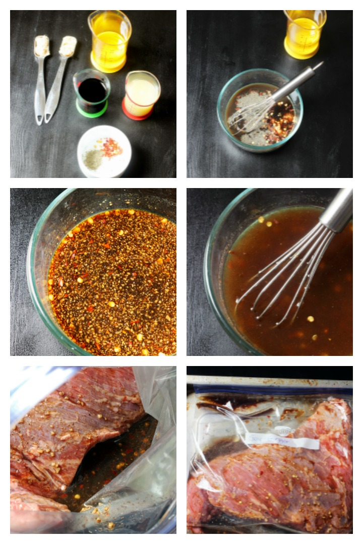 step by step photos of making meat marinade