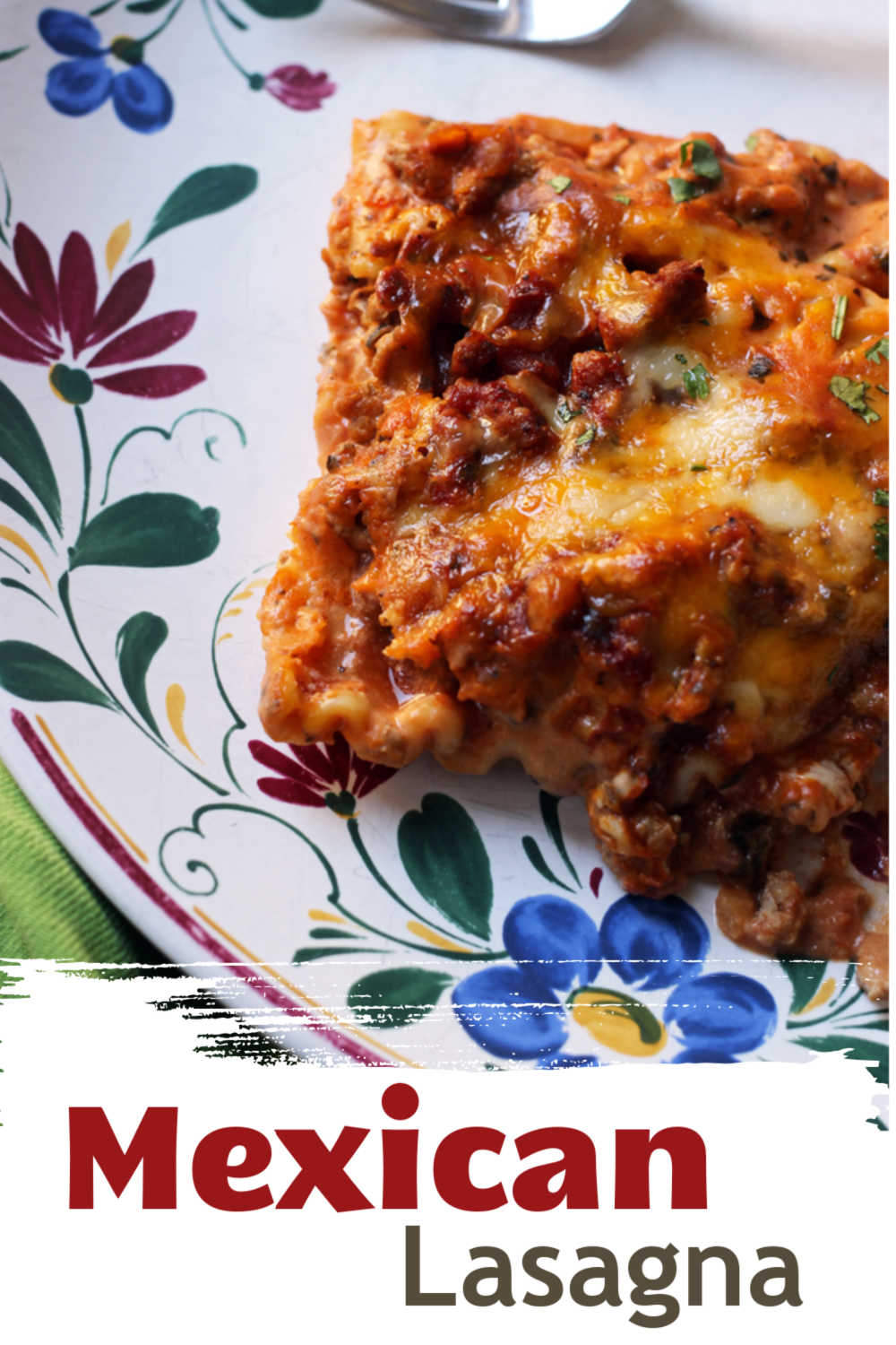 A close up of lasagna on plate