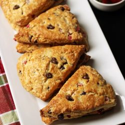 Chocolate Strawberry Scones that Rock