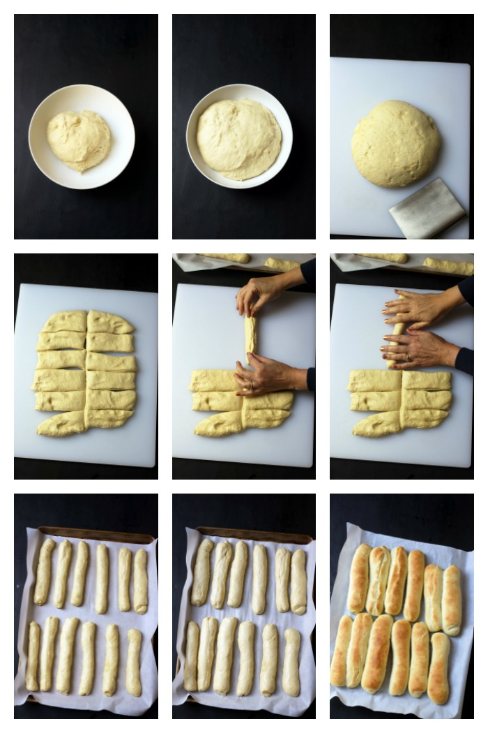 photos of forming the buns
