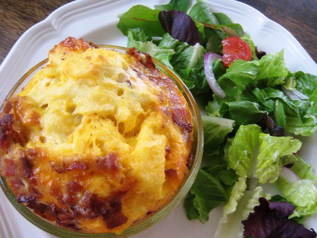 Individual Serving Bacon Cheddar Egg Bake