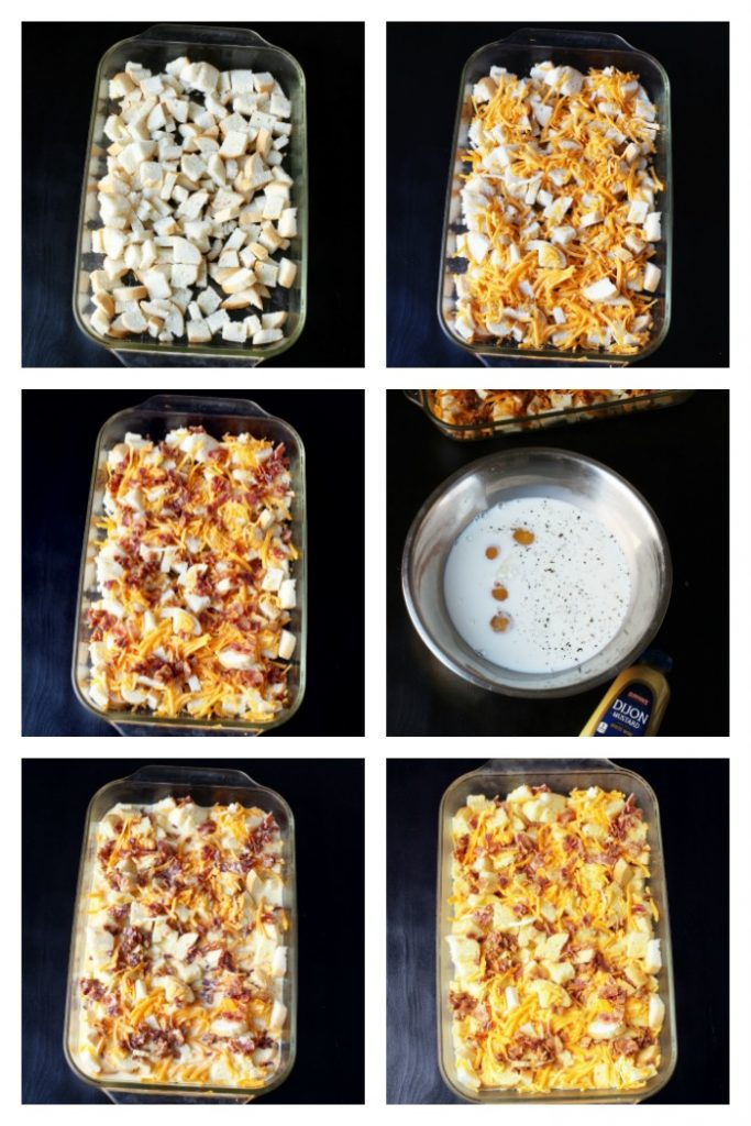 step by step photos to make egg bake