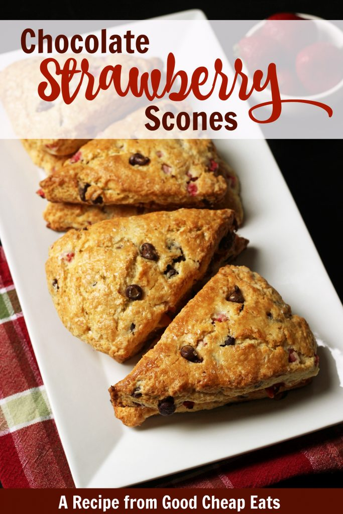 Chocolate Strawberry Scones | A Recipe from Good Cheap Eats