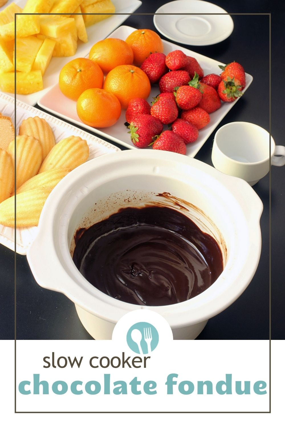 PIN of chocolate fondue