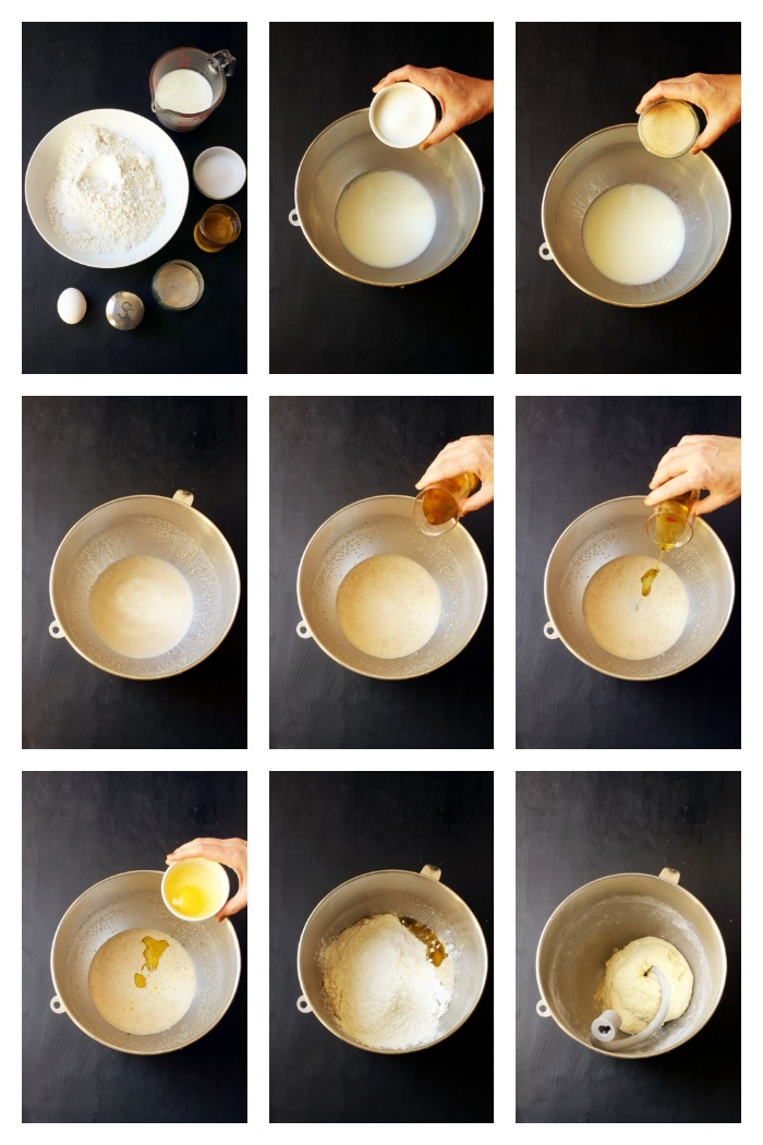 step by step photos of making dough