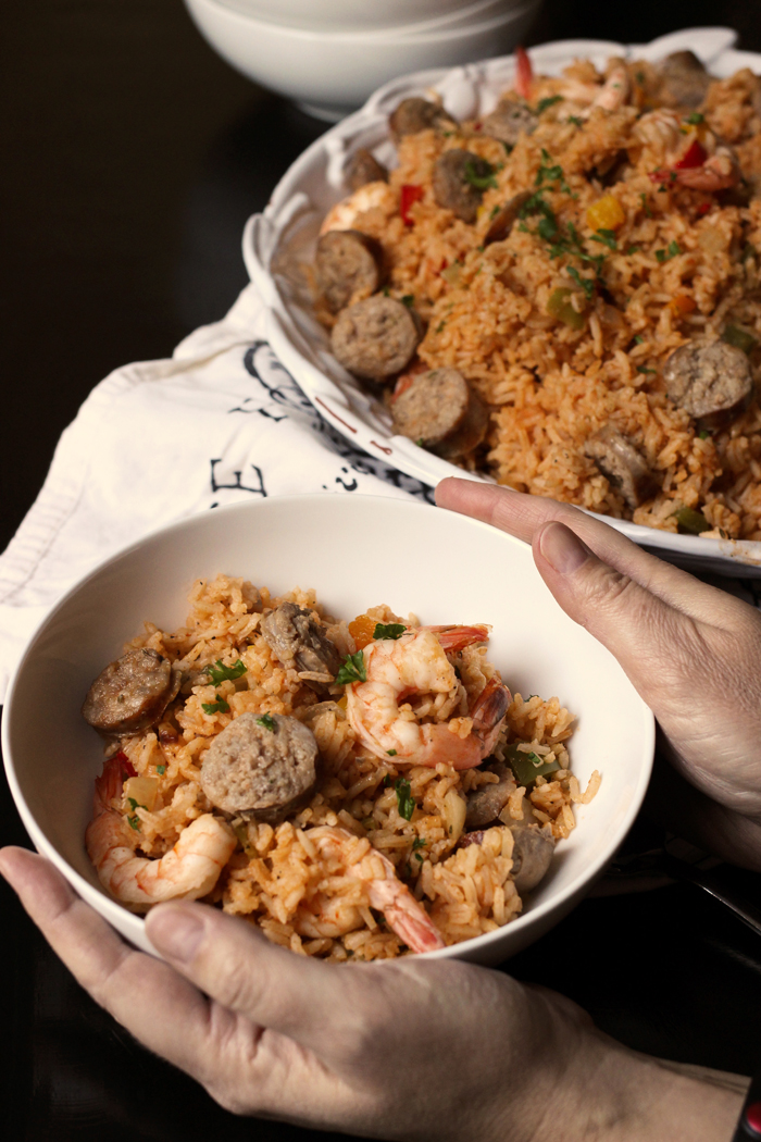Jambalaya with Italian Sausage and Shrimp | Good Cheap Eats