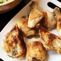 A platter of chicken