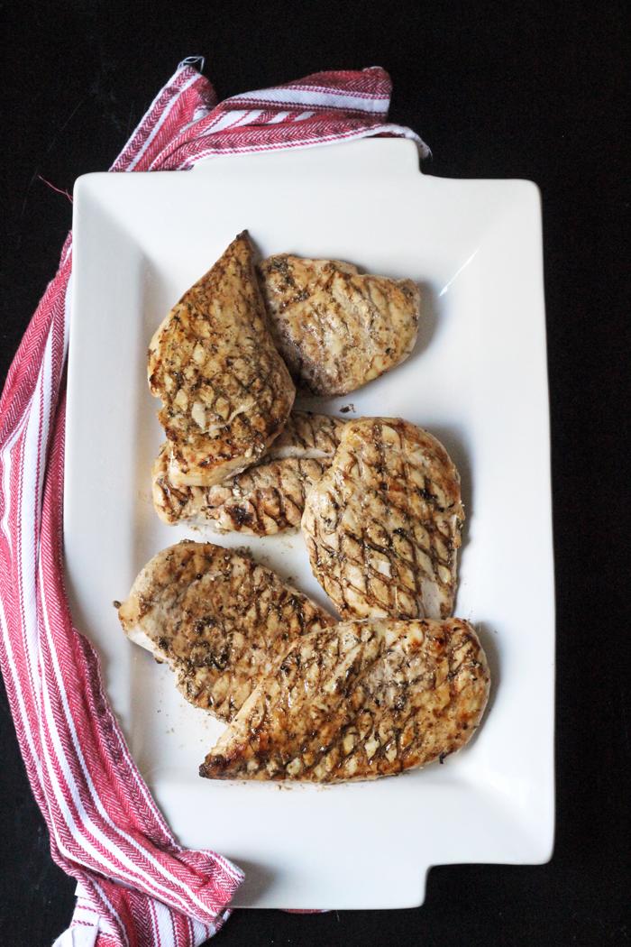 grilled chicken on platter