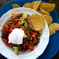A plate of not soggy nachos