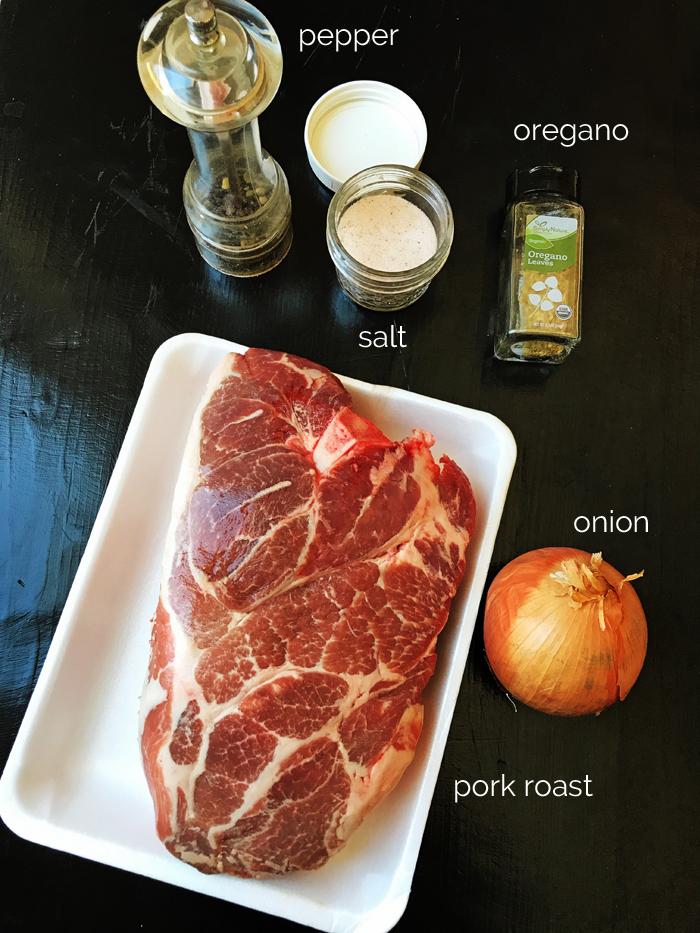 ingredients for carnitas