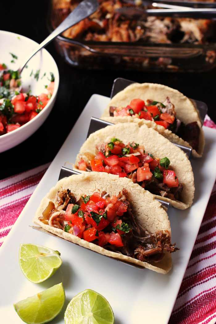 Three Pork Carnitas Tacos