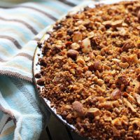 Streusel Topped Pumpkin Pie
