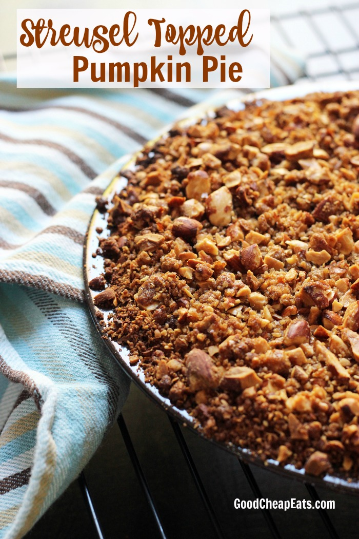Streusel Topped Pumpkin Pie | Good Cheap Eats