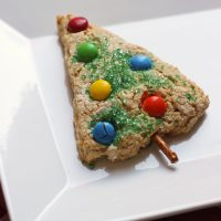 Christmas Tree Scone on a plate