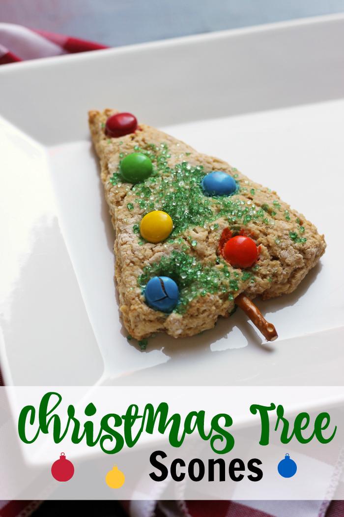 Christmas Tree Scone on plate