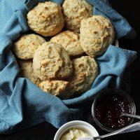 drop biscuits in basket