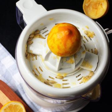 citrus juicer with lemons
