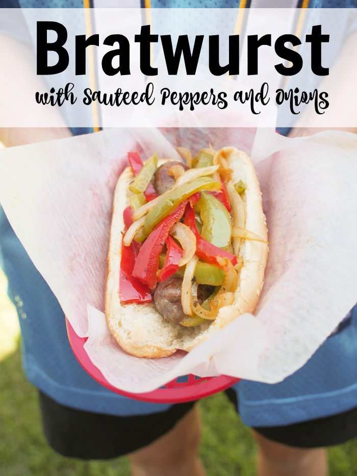 Bratwurst with Sauteed Peppers and Onions   Good Cheap Eats