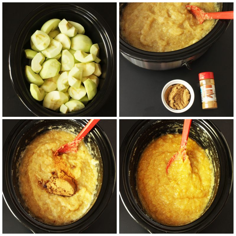 step by step photos of making applesauce