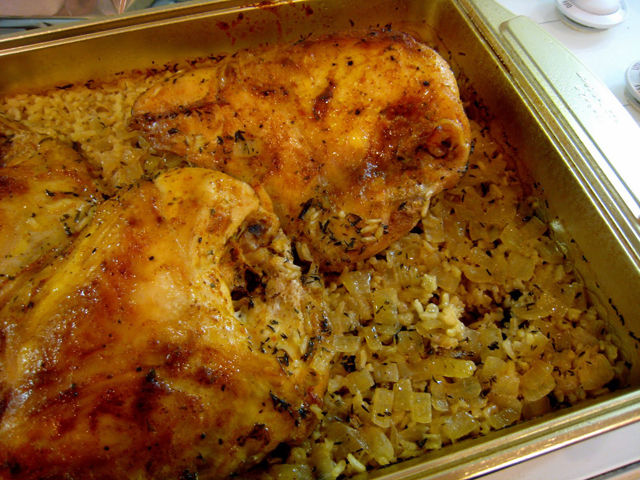 Chicken and Wild Rice Bake | One Dish Chicken and Rice