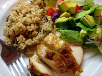 A plate of Rice and Chicken