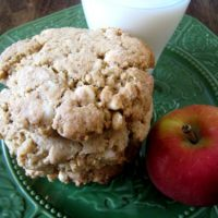 a plate of cookies with apple