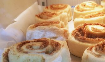 cinnamon rolls in freezer