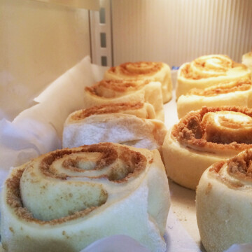cinnamon rolls in freezer