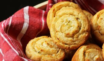A basket of swirl biscuits