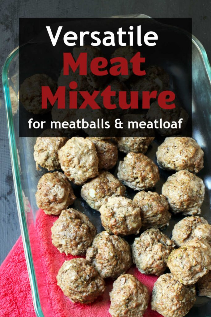 Meatballs in glass dish