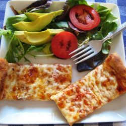 Cheese Pizza and Salad