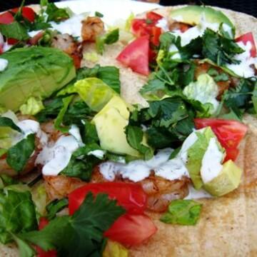 shrimp tacos on a plate