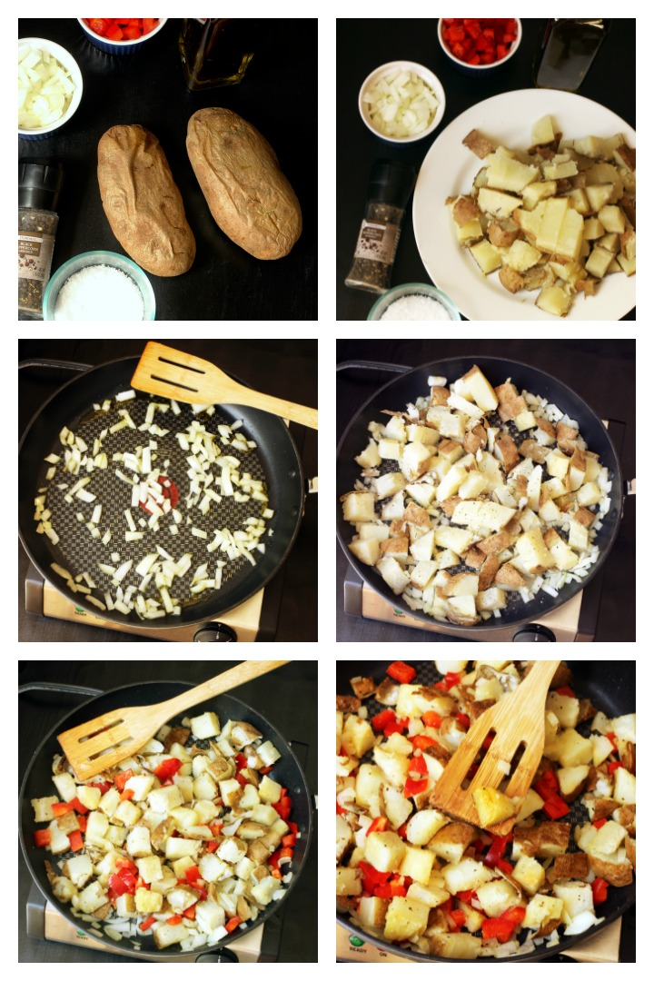 step by step photos of making home fries