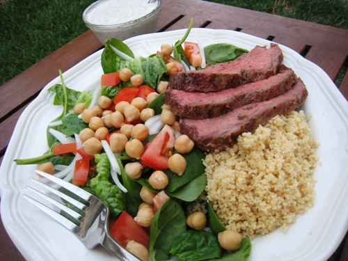 Steak and Chick Pea Salad