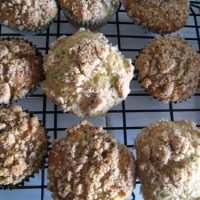 Zucchini Muffins with Streusel Top