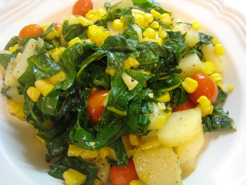 Adventures with Swiss Chard (Recipe: Mixed Vegetable Saute)