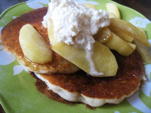 Pancakes with Apples and Whipped Maple Butter