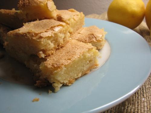 lemon ginger bars on a plate