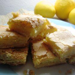 stack of lemon ginger bars on plate