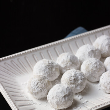 A tray of Snowball Cookies