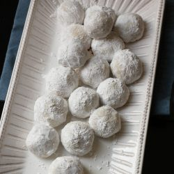 Snowball Cookies on a tray
